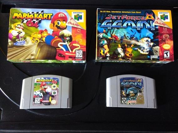 Lote Mario Kart + Jet Force Gemini + Caixas Nintendo 64 N64