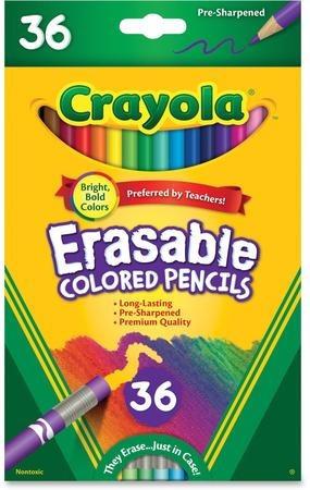 Lapices Crayola Borrables 6 Blister De 36 Unidades C/u