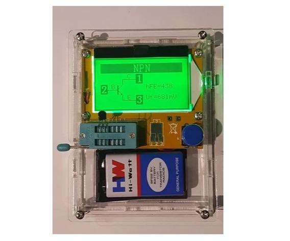 Testador De Componentes + Case + Bateria - Pronta Entrega!