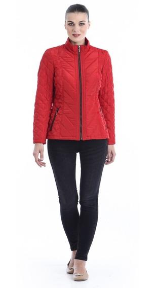 Chamarra Brisa Cazadora Ligera Dama Mujer Shyla Jacket Rojo