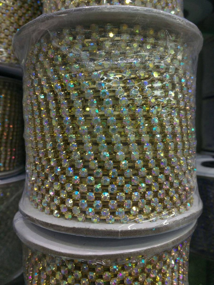 Rolo Strass Boreal 100 M + 1 Rolo 100 M Strass Crystal
