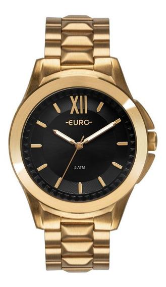 Relógio Euro Feminino Spike Fever Power Dourado Eu2036ymv/4p