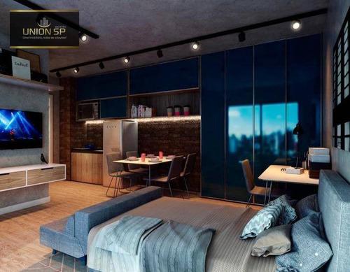 Studio Com 1 Dormitório À Venda, 36 M² Por R$ 640.000,00 - Pompeia - São Paulo/sp - St1378