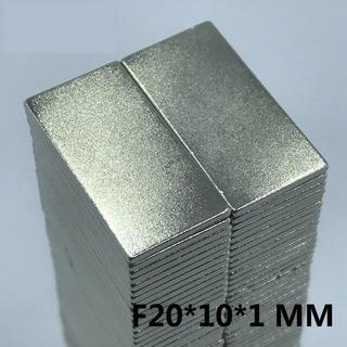 Imanes De Neodimio 20x10x1mm Potentes Niquelados Adhesivo 3m