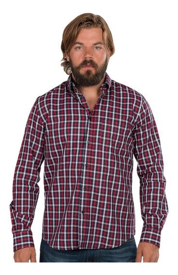 Camisa Hombre Cuadros Casual Vestir Moda Formal Algodon