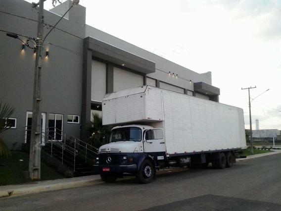 Caminhão Mb 1113, Motor 352, Branco, Baú 90 M3