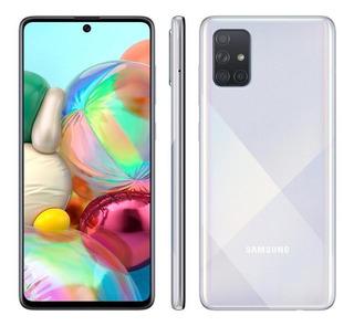 Smartphone Samsung Galaxy A71 128gb Prata 6gb Ram - Tela 6,7