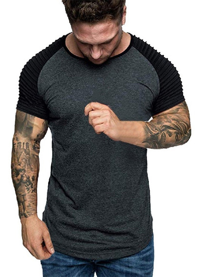 Camiseta De Hombre Verano Fashion Camiseta Casual