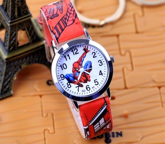 Relógio Homem Aranha Pulseira Vermelho Rg010c Promoção!!!