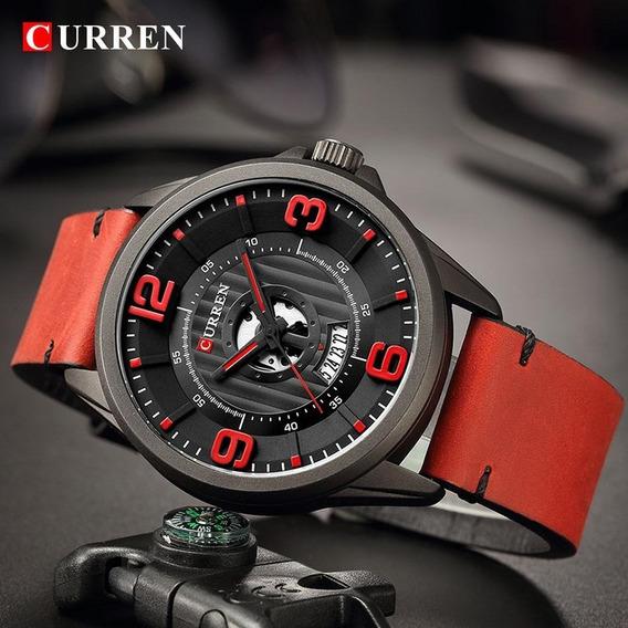 Relógio Curren Pulseira De Couro 8305