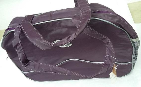 Bolso Cartera Mujer Sintetico Violeta Oscuro 41x26 Cm