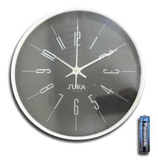 Reloj De Pared Grande Suká Plástico Decoración 25 Cm Cuotas