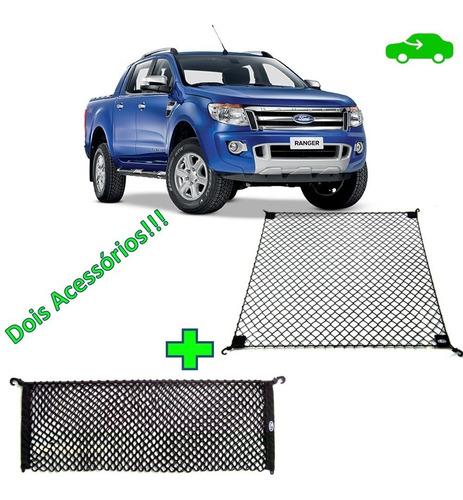 Combo 2 Redes De Carga Caçamba Ford Ranger Todas Versões