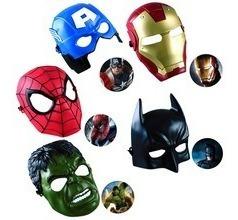 Mascaras Vengadores Spiderman Hulk Batman Ironman Cap Americ