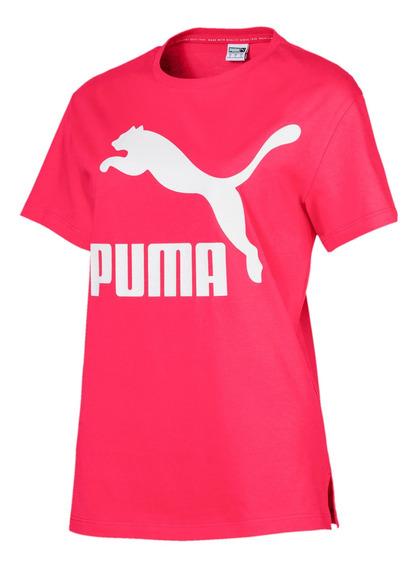 Remera Puma Classics Logo Tee 595514 12 Mujer 59551412