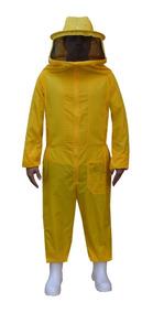 Macacão P/ Apicultura De Nylon Amarelo Super Ventilado