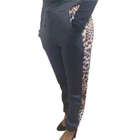 Calça Feminina Jogger Listrada Moletom (flanelado) P-m-g-gg
