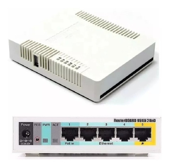 Access Point Mikrotik Routerboard Rb951g-2hnd C/ Wi-fi E Usb