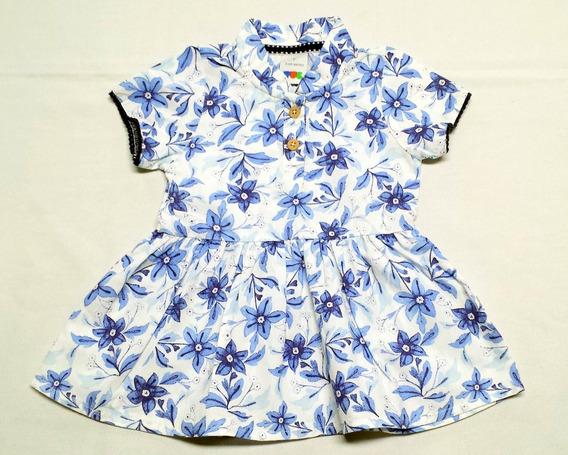 Vestido Bebê Da Puc Em Tecido 100% Algodão - Cód. 2628
