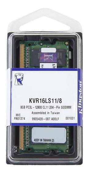 Memória 8gb Ddr3l 1600 Mhz 1.35v Low Voltage Kingston Note