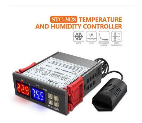 Stc-3028 Controlador Temperatura Y Humedad  Termostato