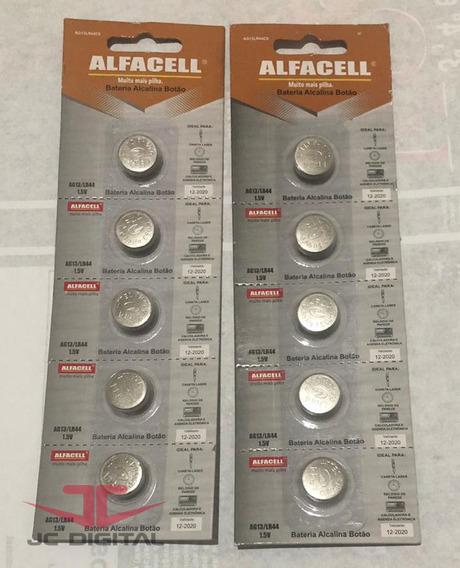 10 Baterias Alcalina Ag13 1,5v Lr44 Alfacell Barata