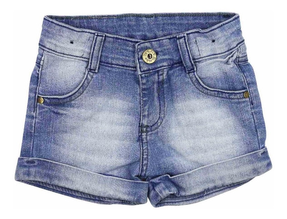 Kit 9 Short Infantil Jeans Rasgadinhos Meninas Feminino
