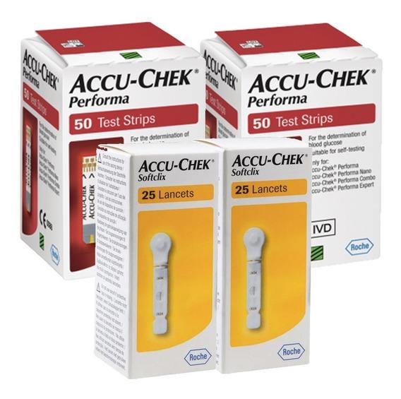Accu - Chek Performa Paquete 100 Tiras Y 50 Lancetas