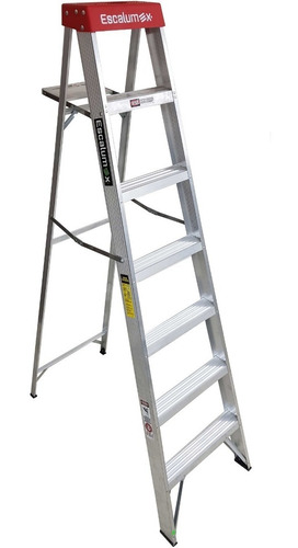 Imagen 1 de 4 de Escalera Tijera De Aluminio Escalumex 7 Peldaños
