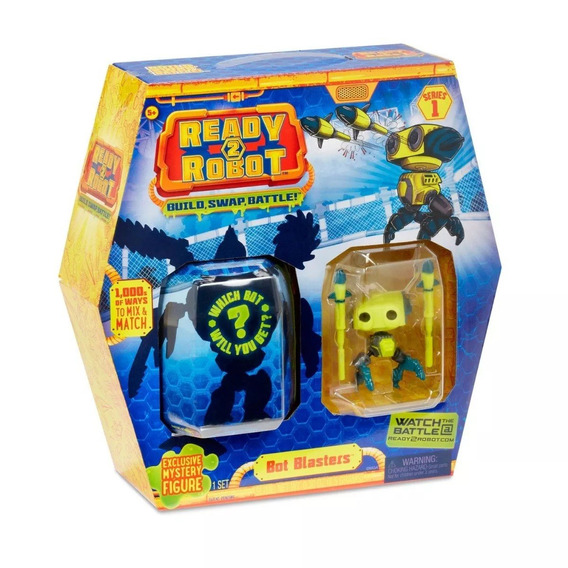Ready 2 Robot Bot Blasters Com Slime - Candide Robo Amarelo