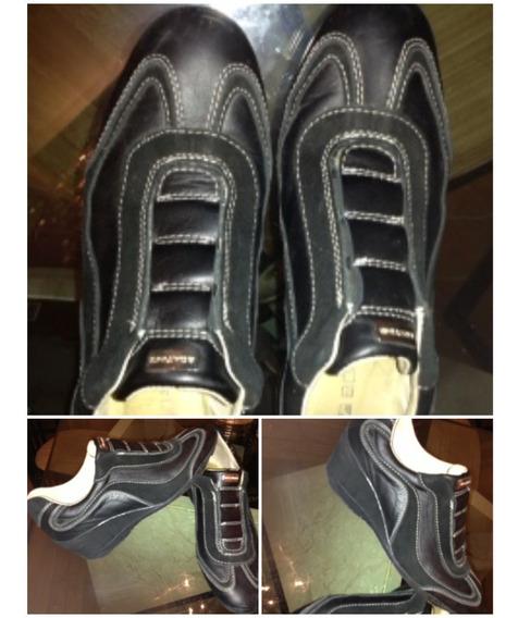 Zapatillas Zapato Cuero 35 Negro Boating Original 1 Postura