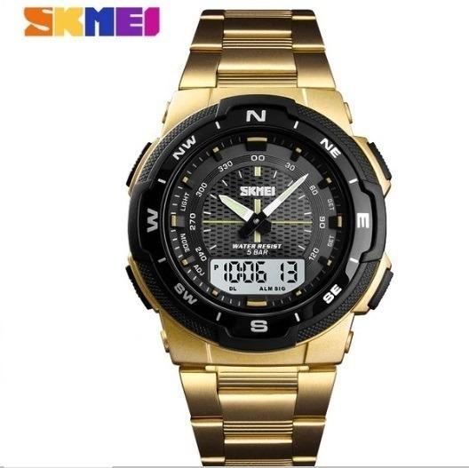 Relógio Masculino Skmei Original Esportivo Aço Inoxidável