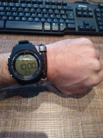 Relógio Esportivo Digital Atlantis Detalhes Prata