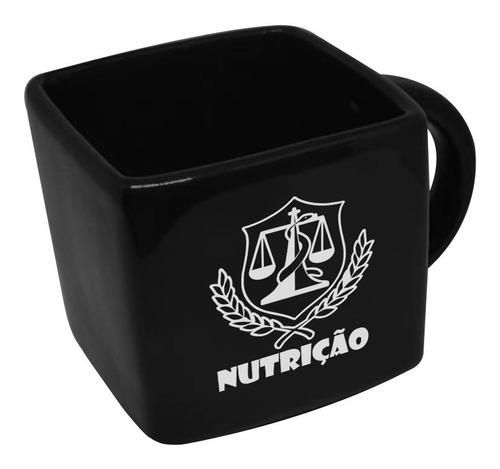 Caneca Cubo Quadrada Profissao Nutricao 200ml