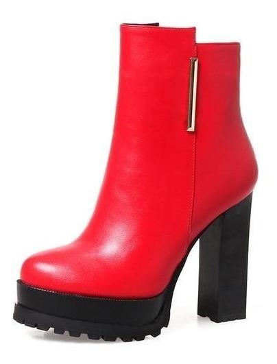 Ankle Boot Feminina J&k 50282 Importado
