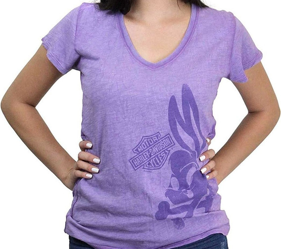 Harley Davidson Camiseta Camisa Blusa Lola Looney Tunes Orig