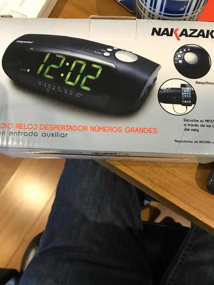 Radio Reloj Despertador Números Grandes Nakazaki