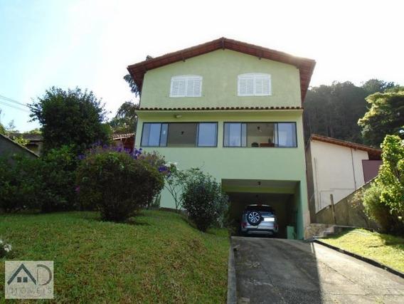 Casa Para Venda Em Nova Friburgo, Parque Dom João Vi, 5 Dormitórios, 1 Suíte, 2 Banheiros, 2 Vagas - 036