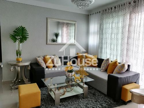 Imagen 1 de 14 de Apartamento Amueblado 3 Hab Res. C/piscina, Santiago Awpa01