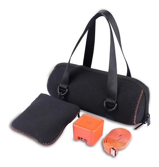 Bolsa Case Estojo Jbl Charge 4 E 3 + Bolsa P/ Acessórios