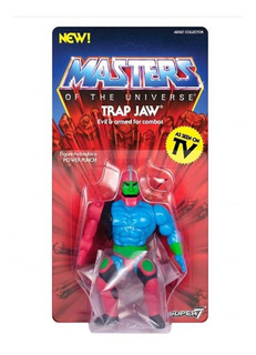 Masters Of The Universe He-man Vintage Trap Jaw Super7