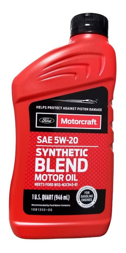 Aceite Motor Semisintetico 5w20 Motorcraft