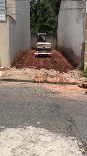Terreno À Venda, 125 M² Por R$ 255.000,00 - Jardim Milena - Santo André/sp - Te1034