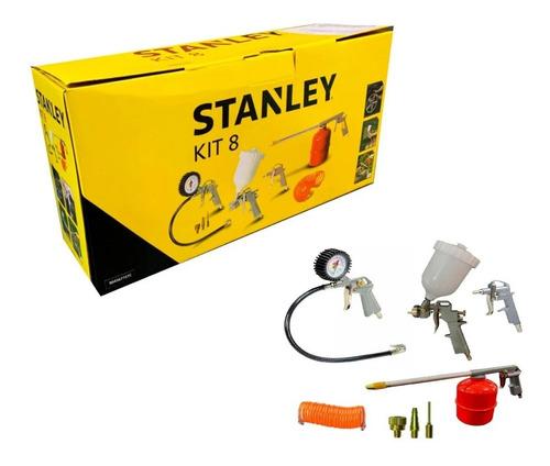 Kit De 8 Piezas Para Compresor Stanley 9045671stc