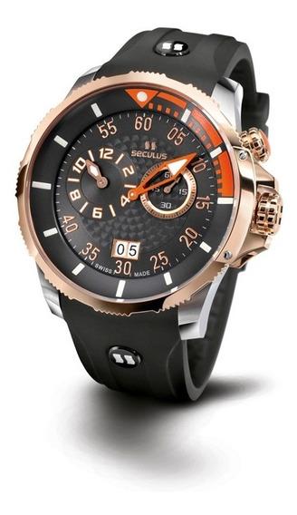 Relógio Seculus Sports Phantomas Swiss 4505422sil2bor