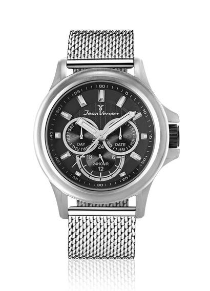 Relógio Pulso Jean Vernier Unissex Aço Multifunção Jv00061a