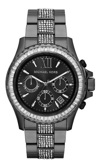 Relógio Michael Kors Mk5829 Original Black Swarovski
