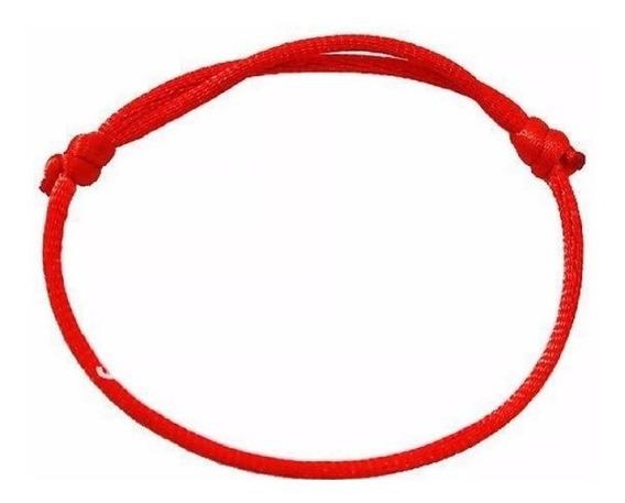 Kit 2 Pulseiras Fita Vermelha Red String Cabala Kabbalah