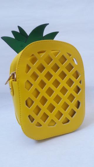 Bolsa Kawaii Piña Amarillo Mujer Asa