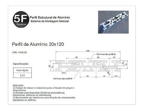 Kit 3 Perfil Estrutural 20x120x430mm